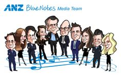 Group Caricature: Blue Notes Media Team