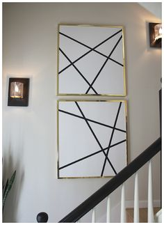 DIY abstract art  via bungalow m