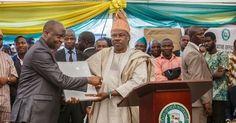 Senator Ibikunle Amosun Honours Head of Service, Others.