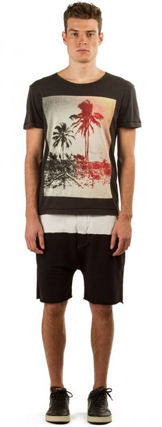 Osklen - T-SHIRT USED COQUEIROS - t-shirts - men