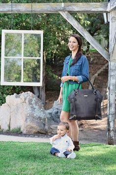 Charlie convertible diaper bag in black - a large diaper tote for two #stylishdiaperbag Diaper Bag Purse, Black Diaper Bag, Boy Diaper Bags, Best Diaper Bag, Large Diaper Bags, Baby Bags, Gender Neutral Diaper Bag, Convertible Diaper Bag, Fashionable Diaper Bags