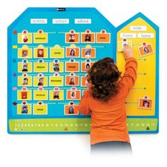 Attendance Board - This wall-mounted board has been specially designed to facilitate everyday activities that involve recognition, identification and working with numbers. By counting girls and boys, those present and those absent, children can get started with numbers. The children gradually learn to count, classify and compare collections.