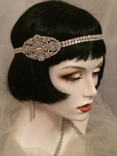 1920s Art Deco headpiece Bridal Gatsby от elisevictoriadesigns
