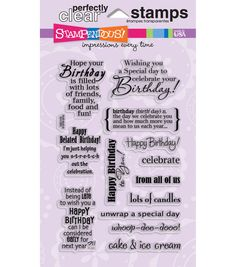 Stampendous Perfectly Clear Stamps-Birthday Assortment