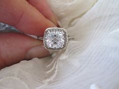 Antique Star Cut Cusion Engagement Ring on Etsy, $275.00