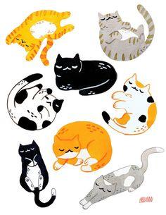 Cute cars illustration draw art prints 15 best ideas - Sewing and craft - Katzen Draw Cats, Auto Illustration, Wallpaper Kawaii, Dibujos Cute, Cat Sleeping, Cute Cars, Expo, Cat Love, Animal Drawings