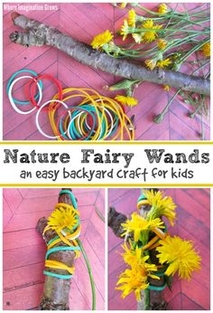 Fine Motor Fairy Wand Craft for Kids! A simple backyard craft for toddlers and preschoolers!