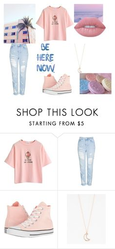 """""""Untitled"""" by thenerdyfairy on Polyvore featuring Topshop, Converse, Full Tilt and Lime Crime"""