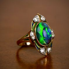 A very rare collectors Tiffany and Co. Opal Ring. Circa 1900.  #RareRing #TiffanyandCo @Tiffanyandco #Ring #Opal #OpalRing #Tiffany #EDJ #ForSale