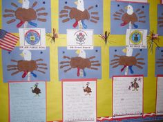 This was a fun American Eagle handprint art we did on 11-11-11 for Veterans Day.