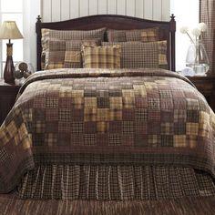 Prescott King Quilt Bundle (Quilt, Skirt and 2 Luxury Shams) – Primitive Star Quilt Shop