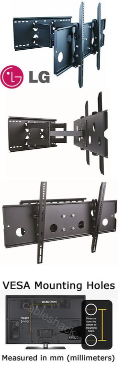 TV Mounts and Brackets: Heavy Duty Full-Motion Tv Wall Mount 32 37 42 50 52 55 60 Inch Lg Lcd Led Hdtv BUY IT NOW ONLY: $96.96