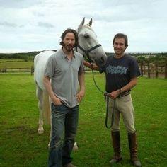 Two of my favorite things: Keanu and horses #keanureeves