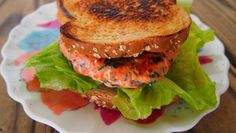 Spinach and Feta Salmon Burger