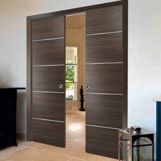 Modern Interior Doors, Modern Wood Doors, Modern Closet Doors, Sliding Closet Doors, Indoor Sliding Doors, Modern Sliding Doors, Contemporary Internal Doors, Door Design, House Design