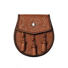 Khaki Pigskin Leather Day Sporran