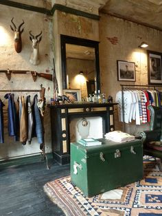 Great store layout - love the taxidermy with the industrial and vintage touches