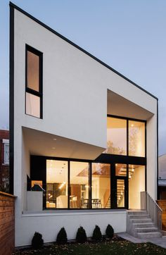 Architecture Microclimat builds minimal terrace house in traditional Montreal neighbourhood 1st Avenue, Arch House, Minimal Home, Modern Exterior, Front Design, Architecture, Modern Contemporary, Terrace, Minimalism