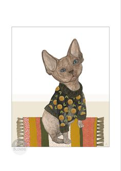 Cat illustration -mixed media #catholic #illustrationdesign #catillustrations