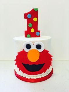 Birthday smash cake for an Elmo lover!