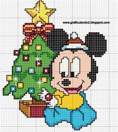 Minnie e Mickey bebês, modelo para Cross Stitch, especial ...