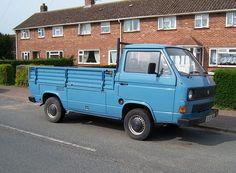 1980s VW Transporter pickup by Spottedlaurel, via Flickr- what a truck