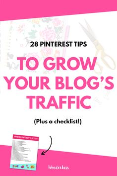 Check out these 28 Pinterest tips to massively grow your blog's traffic! I grew my blog's traffic by OVER 800% in 4 months using these tips!