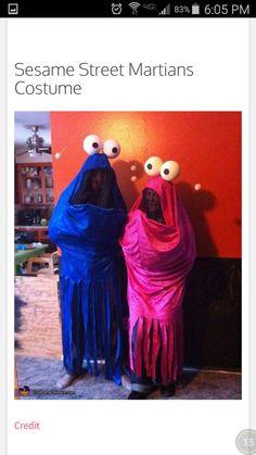 Couples costume - sesame Street aliens