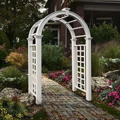 Have to have it. New England Arbors Nantucket Deluxe Vinyl Arbor - $499.99 @hayneedle