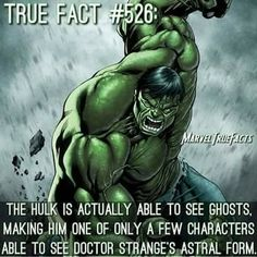 The Hulk can see ghosts Marvel And Dc Superheroes, Avengers Comics, Marvel Vs, Superhero Facts, Superhero Characters, Marvel Facts, Marvel Memes, Marvel Comic Character, Comics Universe