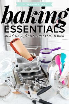 Baking Essentials: Must-Have Tools for Every Baker . Baking Essentials: Must-Have Tools for Every Baker Baking Items, Baking Supplies, Kitchen Supplies, Baking Tools, Kitchen Tools, Kitchen Stuff, Kitchen Utensils, Cooking Gadgets, Cooking Tips