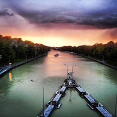 Hindenburgschleuse in Hannover, Germany