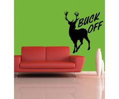 Check out the cool #Buck off #wall #sticker by meSleep only on http://www.makenlive.com/products/9460/walls-and-paints/wall-stickers/Buck%20off  #art #decor #home