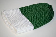 Reversible Knit Hat Green White and Blue for Boys by Lillsknits, $28.00