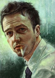 """Fight Club"" Tyler Durden/Ed Norton"