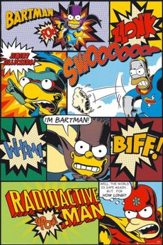 the Simpsons pop art | THE SIMPSONS - TV SHOW POSTER / PRINT (RETRO POP-ART STYLE COMIC ...
