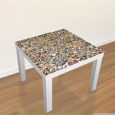 #Ikea #Table #Decal - Surface from pebbles //  #Stickers Table Ikea - Surface de cailloux  #Lack