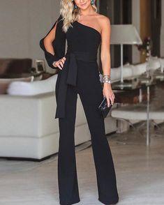 7158e94006ef Product Name Stylish One Shoulder Long Sleeves Jumpsuit Brand Wakasia SKU  IN19866B51C899 Gender Women Style Elegant