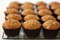 The Parenting Project: (no sugar) Carrot, Apple and Zucchini Muffins. I just made these and they are awesome! Didn't have zucchini so I subbed grated beets. The muffins are bright pink! Gluten Free Zucchini Muffins, Veggie Muffins, Carrot Muffins, Cranberry Muffins, No Sugar Snacks, Yummy Treats, Sweet Treats, Breakfast Items, Diet Breakfast