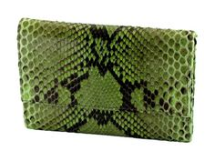 Exclusive python woman's wallet color green
