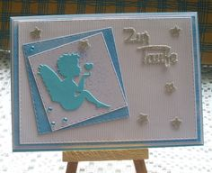 Glückwunschkarten - Glückwunschkarte zur Taufe - ein Designerstück von Wollzottel bei DaWanda Kids Cards, Baby Cards, 2nd Baby, Fairy Tales, Stampin Up, Congratulations, Christmas Cards, Greeting Cards, Scrapbook