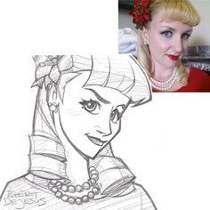 disney style drawing - Pesquisa Google