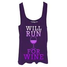 CHIN UP Junior's - Will Run For Wine T-shirt I need