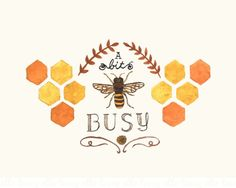 Busy Bee - 8x10 Art Print. $19.00, via Etsy.