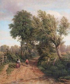 At Snitterfield, Warwickshire by Thomas Baker 1838 at Leamington Spa Art Gallery & Museum