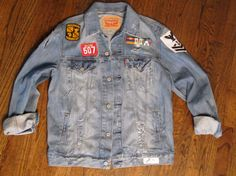 Levis Patch Work Denim Jacket by LuckieYouVintage on Etsy, $125.00