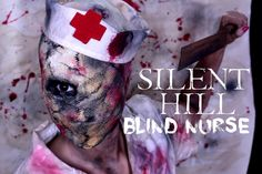 Silent Hill Blind Nurse Tutorial [Halloween 2015]  Silent Hill Nurse Makeup   creepy | scary | halloween | horror | movie | game | blind nurse | mua | fx makeup | no mouth | no eye | idea | inspiration | hospital | fear
