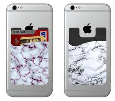 Rock on with our marblePhoneBuddy! Fits iPhone, Galaxy, and all other smartphones Comfortably holds 4 cards 2 high quality units No sticky residue when remove