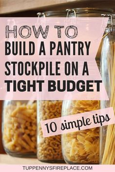 The food stockpile list you need for frugal living. I love this simple beginners guide to building a grocery stockpile. Great ideas on food storage, organization and how to get started. Tips for your Living On A Budget, Frugal Living Tips, Living At Home, Frugal Tips, Food Storage, Storage Organization, Storage Ideas, Pantry List, Pantry Staples List