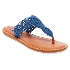 Women's Mad Love Lee Thong Sandals - Blue 10
